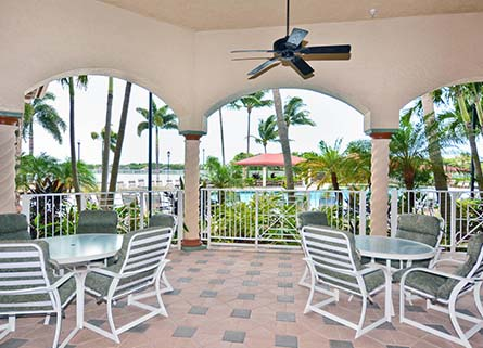 Outdoor Setting of Venetian Isle Clubhouse Real Estate in Boynton Beach, FL